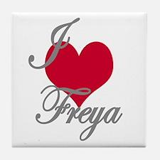 I love (heart) Freya Tile Coaster