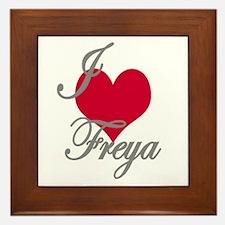 I love (heart) Freya Framed Tile