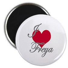 """I love (heart) Freya 2.25"""" Magnet (10 pack)"""