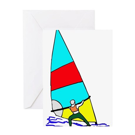 Windsurfer Bright Greeting Card