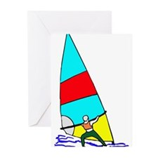 Windsurfer Bright Greeting Cards (Pk of 20)