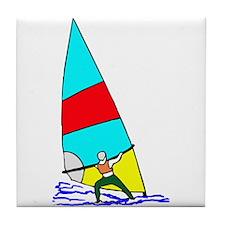 Windsurfer Bright Tile Coaster