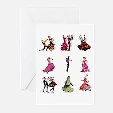 Flamenco Spanish Dancing Greeting Cards (Pk of 20)