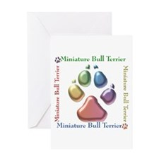 Mini Bull Name2 Greeting Card