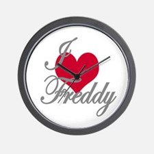 I love (heart) Freddy Wall Clock