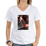 Accolate/Great Dane (B10) Women's V-Neck T-Shirt
