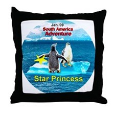 STAR Penguins S. America Logo- Throw Pillow