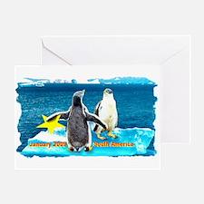 STAR Penguins S. America Logo- Greeting Card