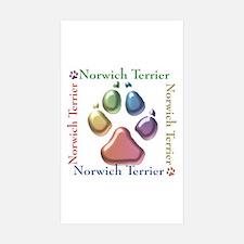 Norwich Name2 Rectangle Sticker 10 pk)