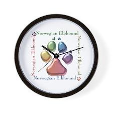 Elkhound Name2 Wall Clock