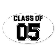 Vintage Class of 2005 Oval Decal