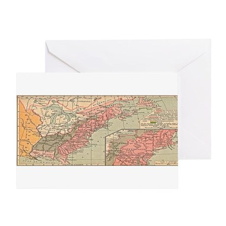 13 British Colonies in North America Greeting Card
