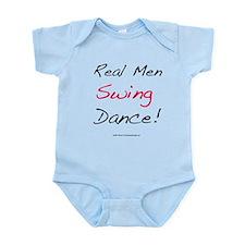 Real Men Swing Dance Infant Bodysuit