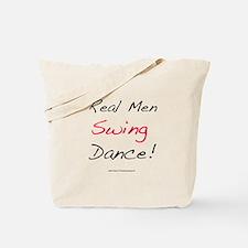 Real Men Swing Dance Tote Bag