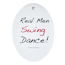 Real Men Swing Dance Oval Ornament