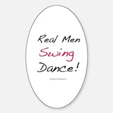 Real Men Swing Dance Oval Stickers
