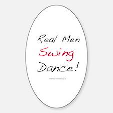 Real Men Swing Dance Oval Stickers