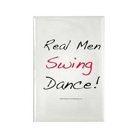 Real Men Swing Dance Rectangle Magnet