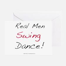 Real Men Swing Dance Greeting Card