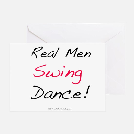 Real Men Swing Dance Greeting Card