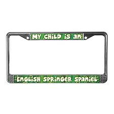 My Kid English Springer License Plate Frame