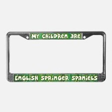 My Children English Springer License Plate Frame