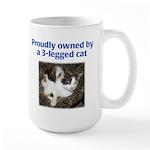 3-Legged Cat Large Mug