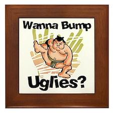 Fat Sumo Wrestler Framed Tile