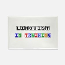 Linguist In Training Rectangle Magnet