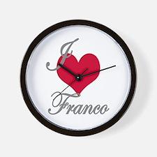 I love (heart) Franco Wall Clock