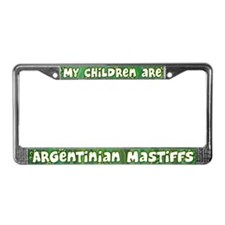 My Children Dogo Argentino License Plate Frame