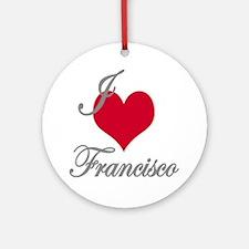 I love (heart) Francisco Ornament (Round)