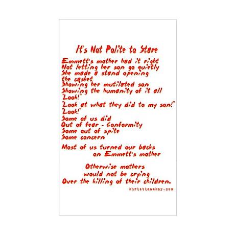 Poet Tees Rectangle Sticker