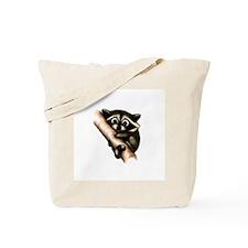 Raccoon In A Tree Tote Bag