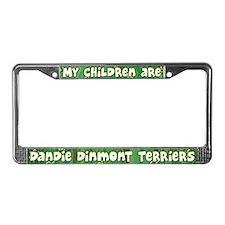 My Children Dandie Dinmont License Plate Frame
