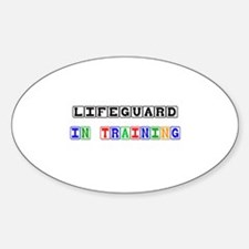 Lifeguard In Training Oval Decal