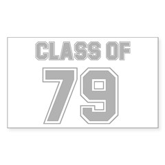 College Class of 79 Rectangle Decal