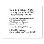 NOT to say - Expecting Twins Small Poster