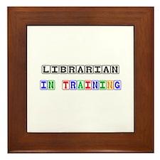 Librarian In Training Framed Tile