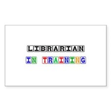 Librarian In Training Rectangle Decal