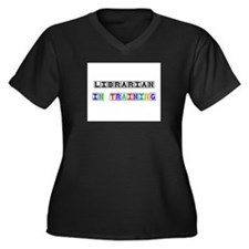 Librarian In Training Women's Plus Size V-Neck Dar