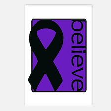 Purple (Believe) Ribbon Postcards (Package of 8)