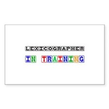 Lexicographer In Training Rectangle Decal