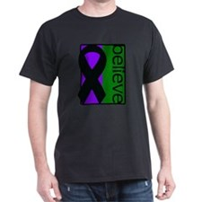 Purple and Green (Believe) Ribbon T-Shirt
