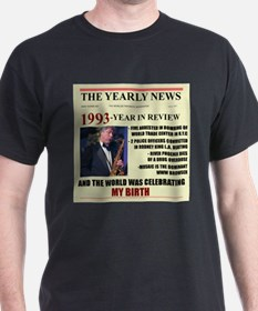 born in 1993 birthday gift T-Shirt