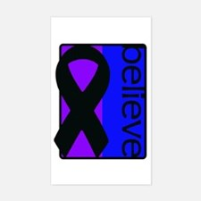 Purple and Blue (Believe) Ribbon Decal