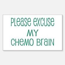 Please excuse my chemo brain Rectangle Decal