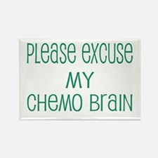 Please excuse my chemo brain Rectangle Magnet (10