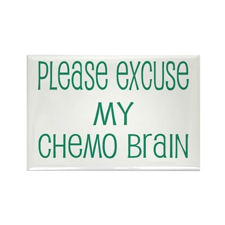 Please excuse my chemo brain Rectangle Magnet