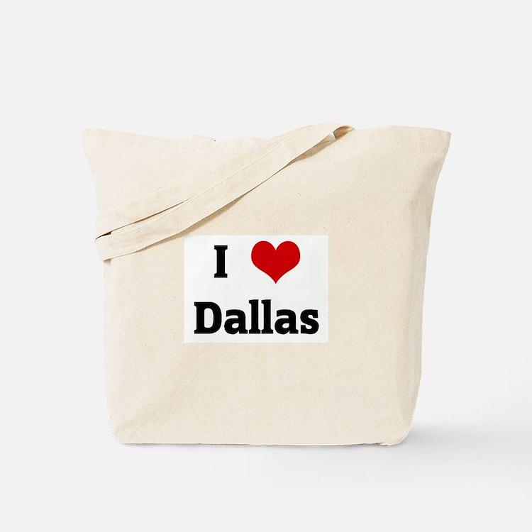 I Love Dallas Tote Bag